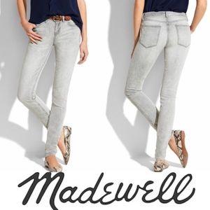 Madewell Skinny-Skinny Grey Wash Denim Jeans 31x32